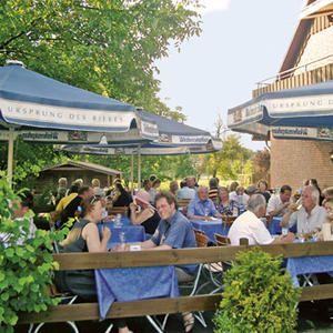 Biergarten des Gasthauses & Hotels Bähre